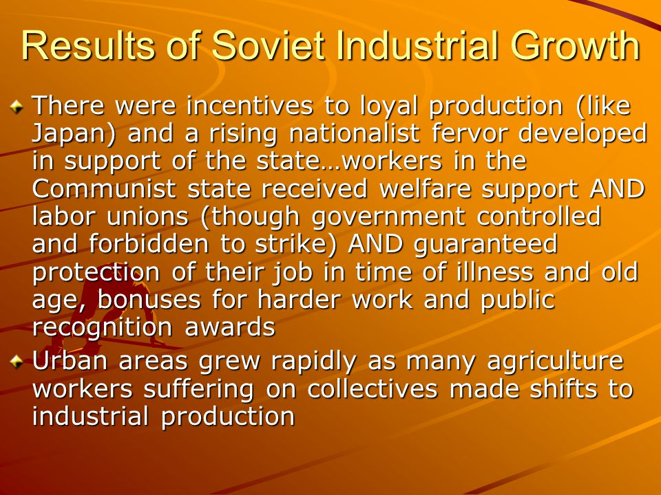 Results of Soviet Industrial Growth