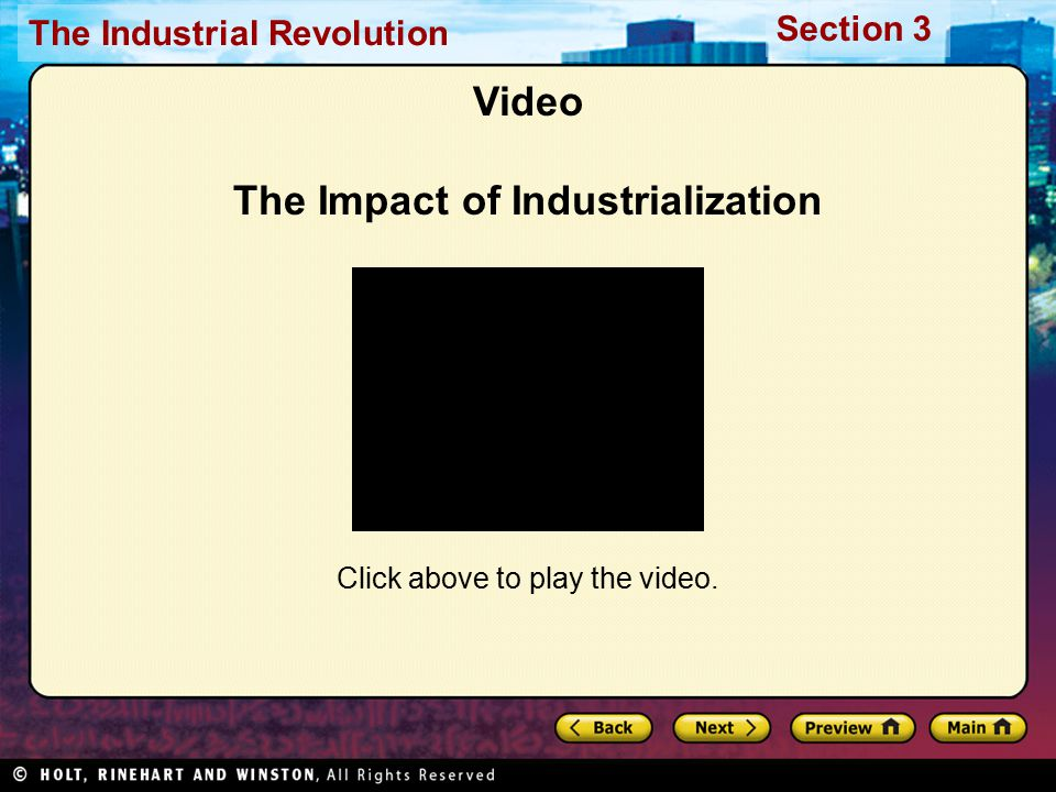 Video The Impact of Industrialization
