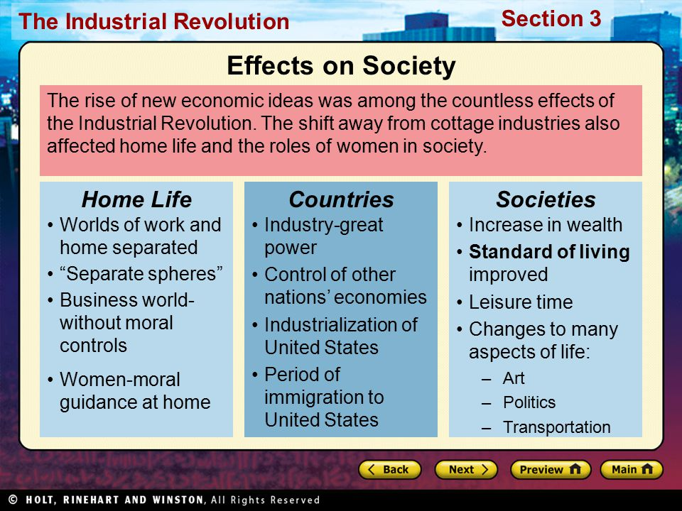 Effects on Society Home Life Countries Societies