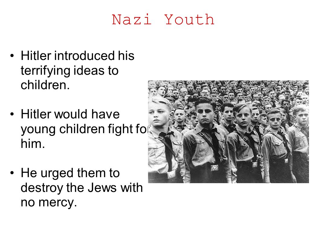 Nazi Youth Hitler introduced his terrifying ideas to children.