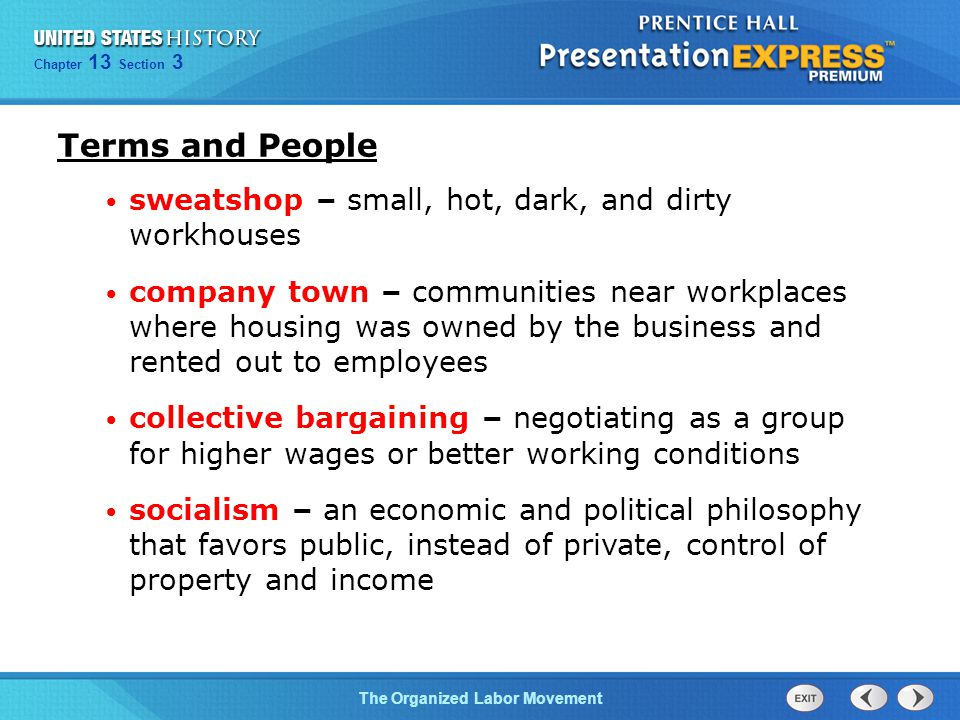 Terms and People sweatshop – small, hot, dark, and dirty workhouses
