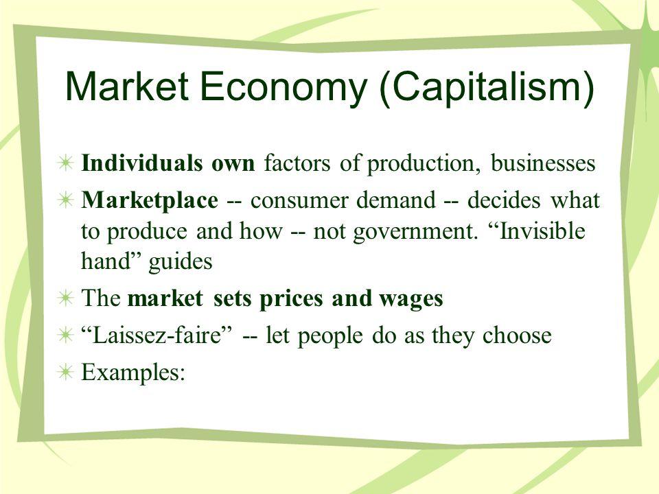 Market Economy (Capitalism)