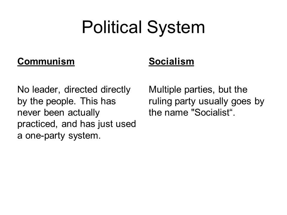 Political System Communism Socialism