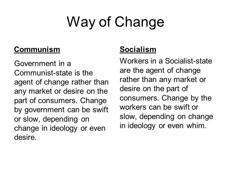 Way of Change Communism Socialism