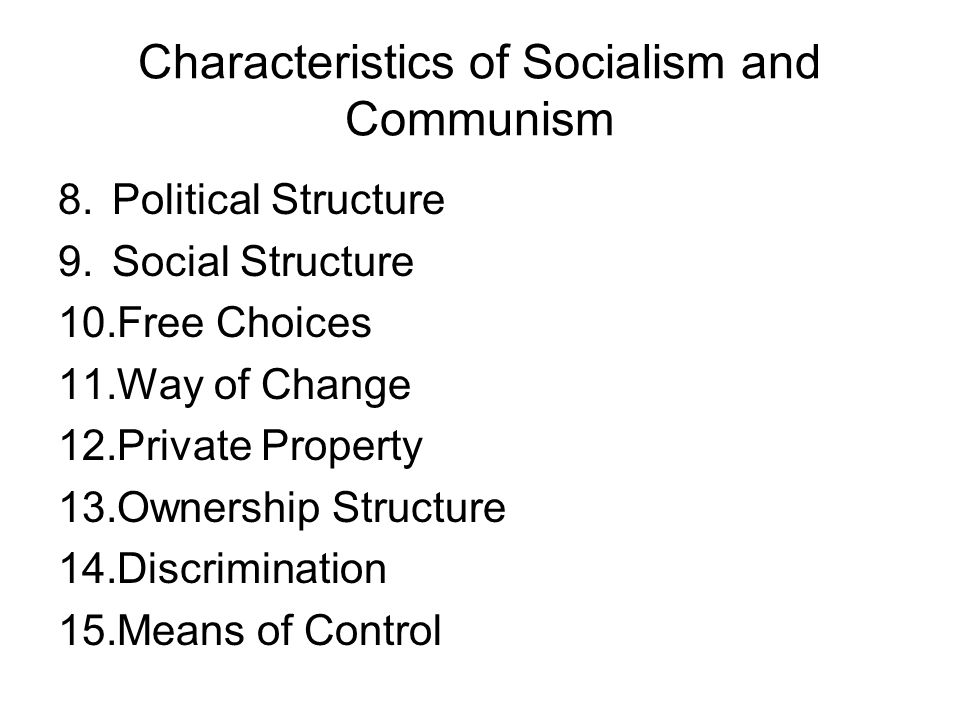 How communism affects social classes in