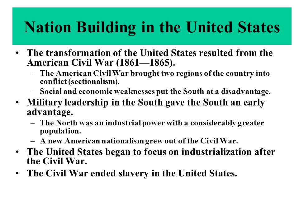 a history of nation building in america Nation-building, the american way this paper examines the united states army's role in nation-building by exploring america's history of nation-building pursuits.