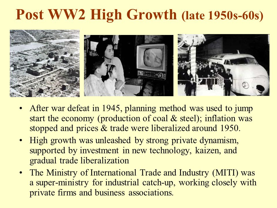 Post WW2 High Growth (late 1950s-60s)