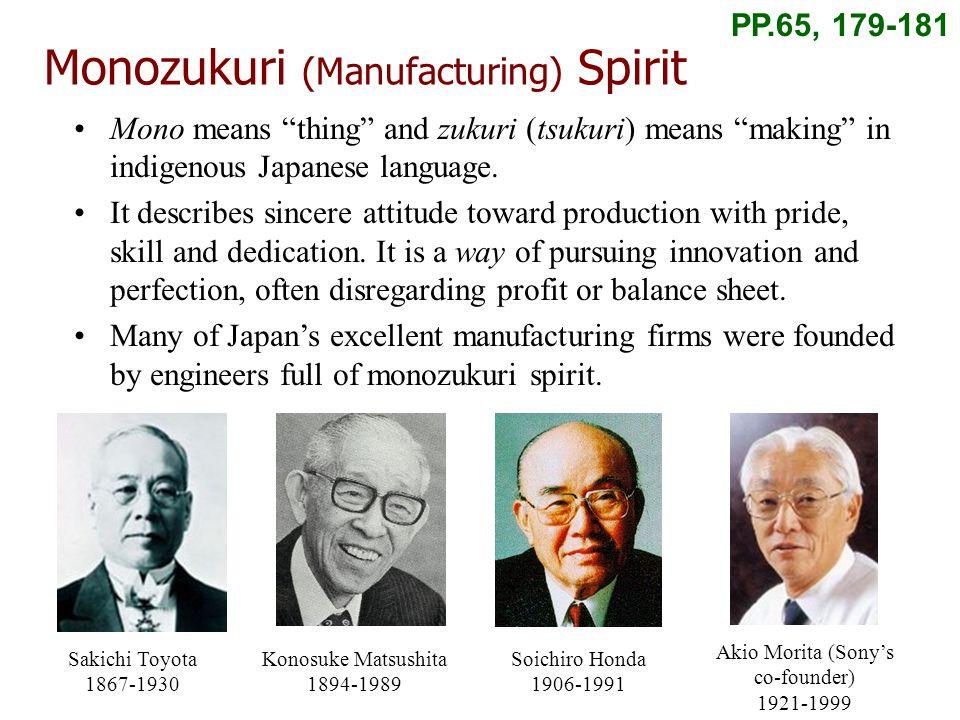 Monozukuri (Manufacturing) Spirit