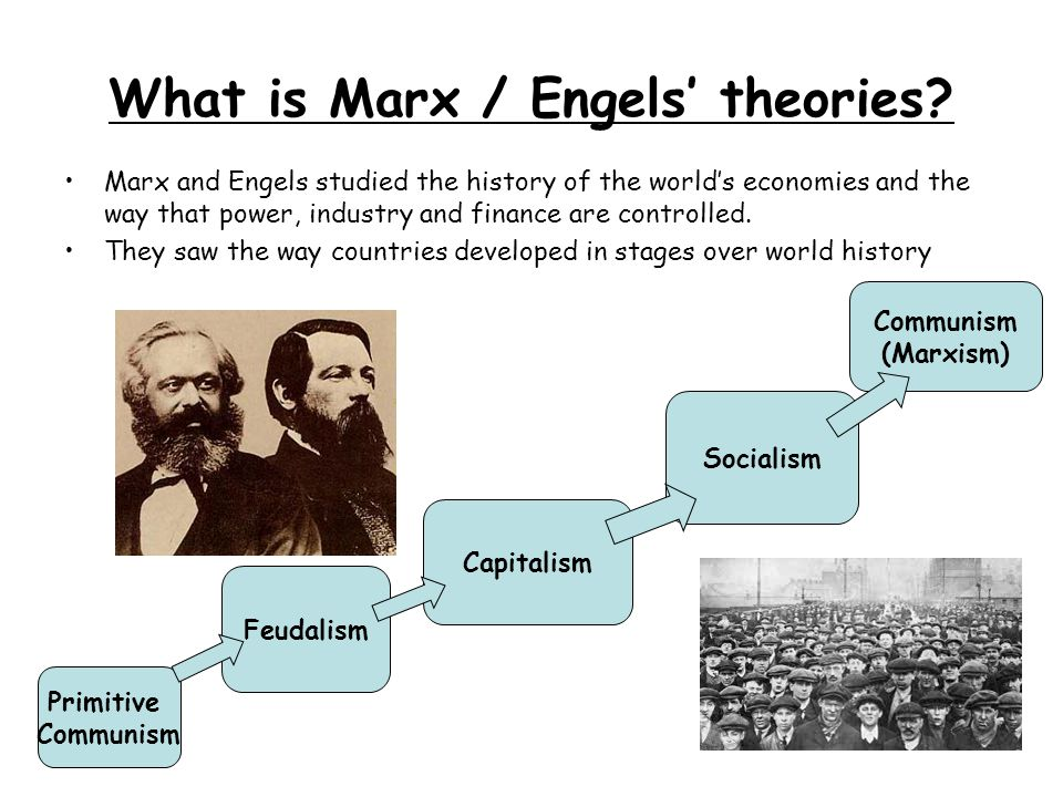 What is Marx / Engels' theories
