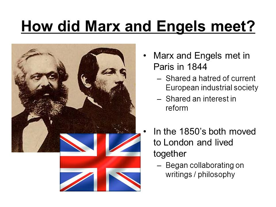 How did Marx and Engels meet