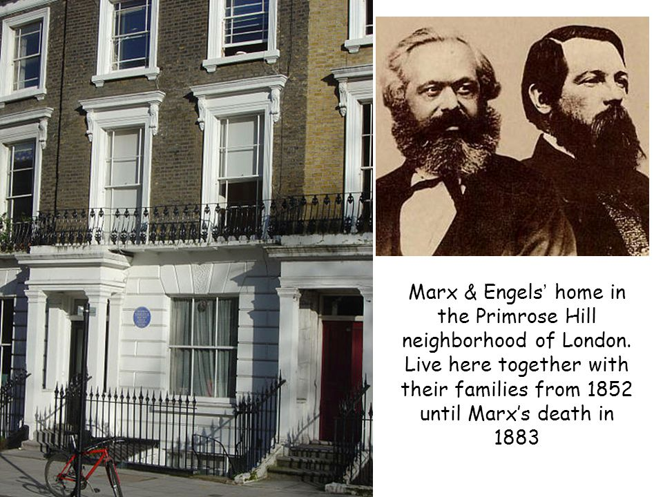 Marx & Engels' home in the Primrose Hill neighborhood of London