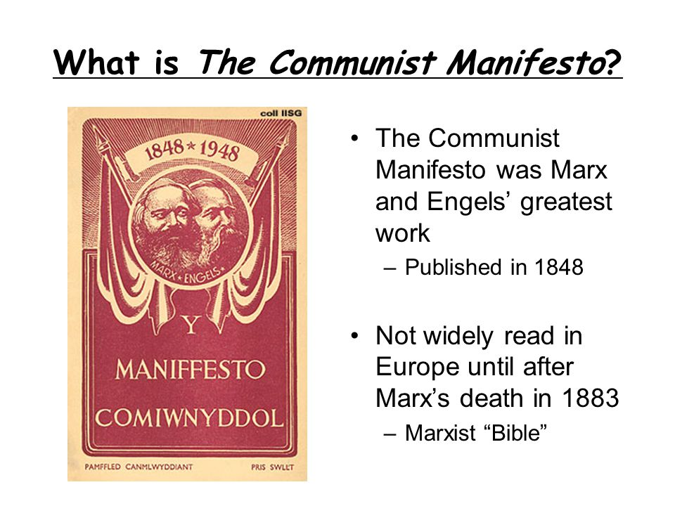 What is The Communist Manifesto