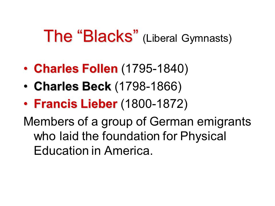 The Blacks (Liberal Gymnasts)