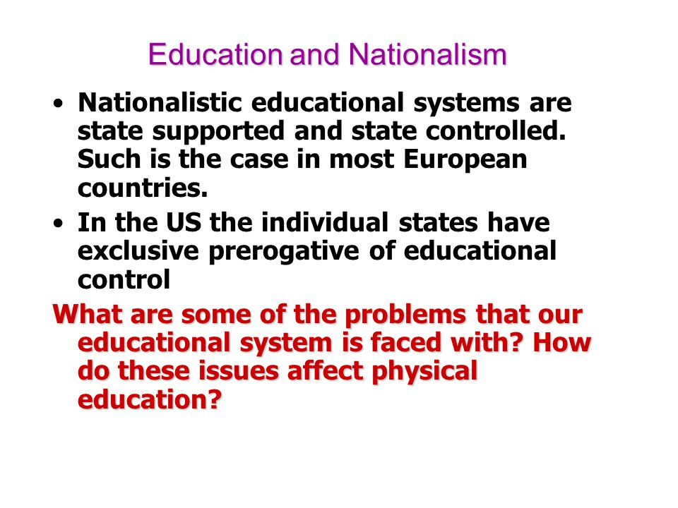 Education and Nationalism