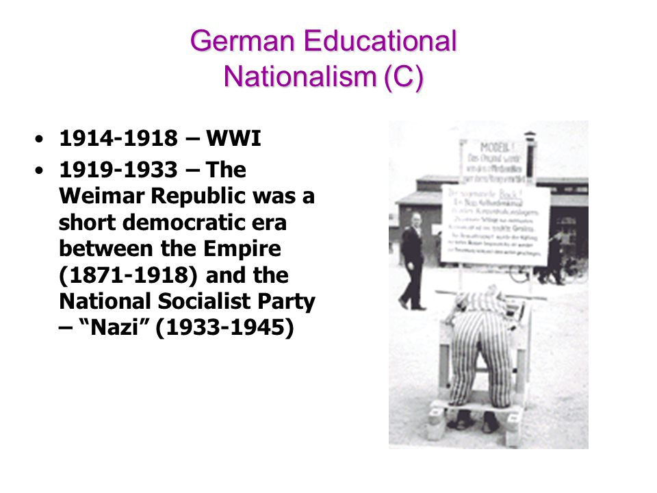 German Educational Nationalism (C)