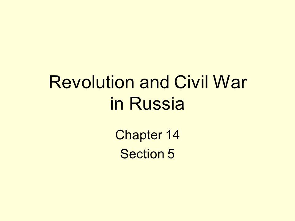 Revolution and Civil War in Russia