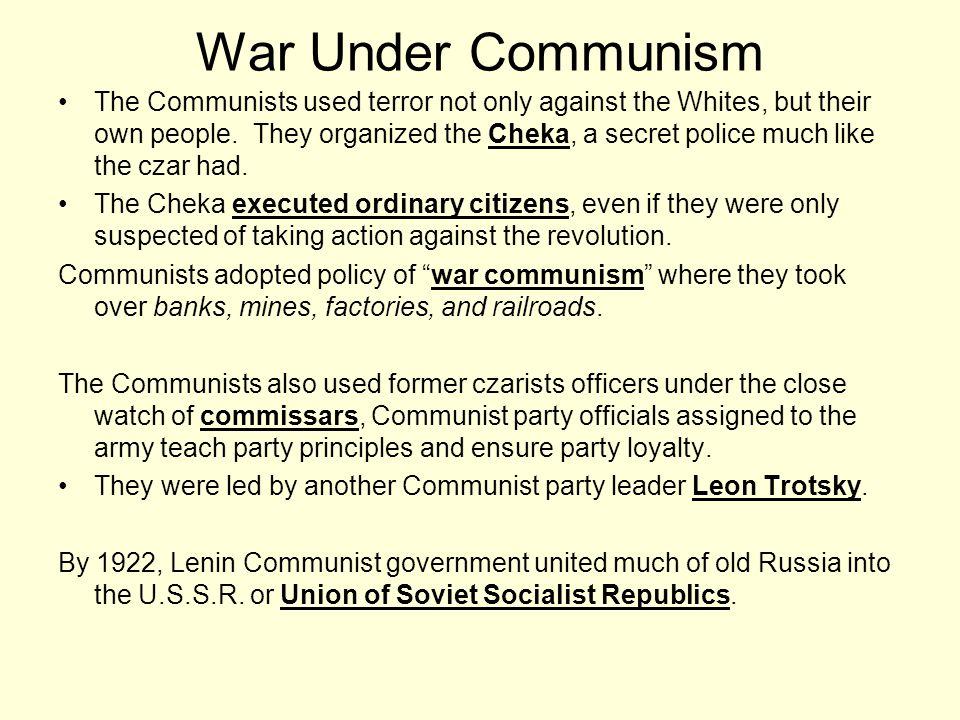 War Under Communism