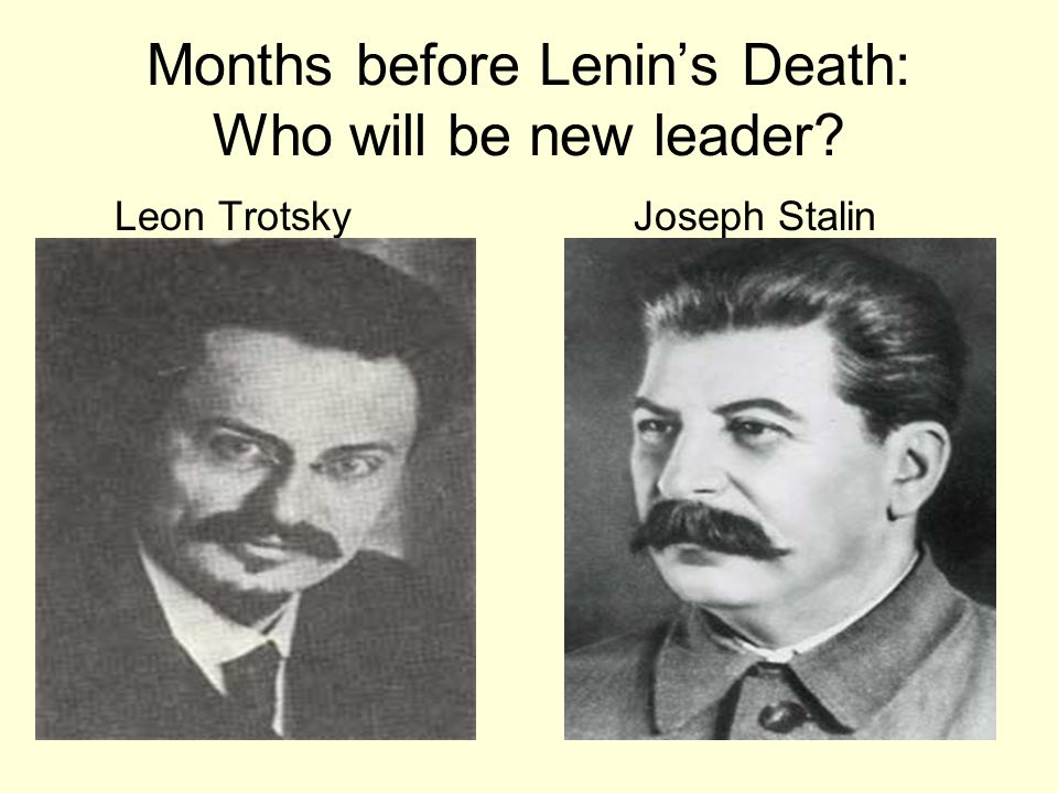 Months before Lenin's Death: Who will be new leader