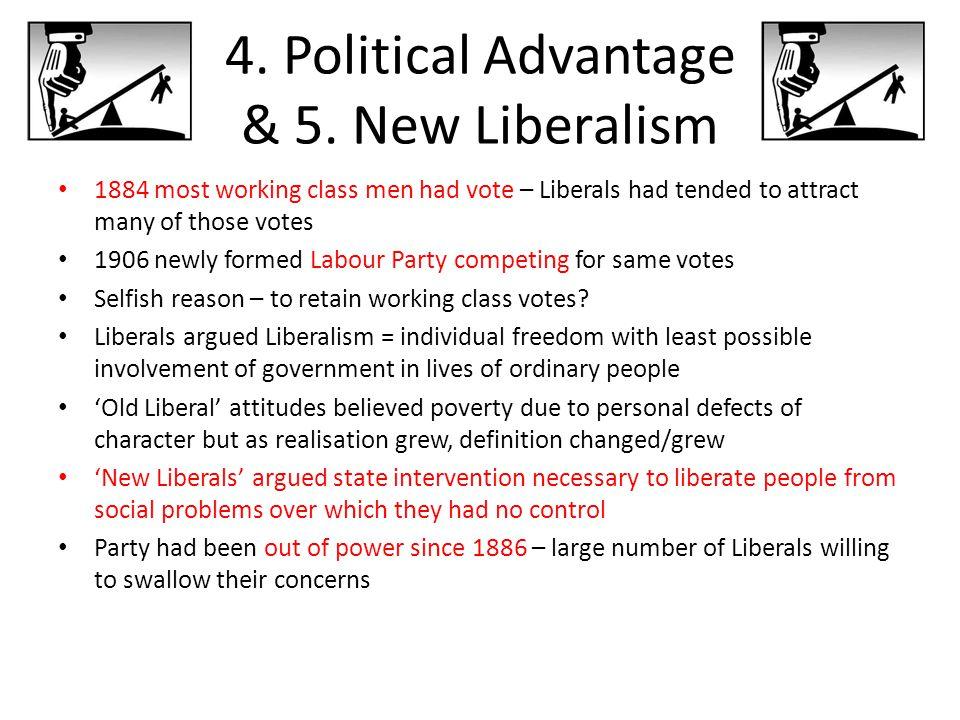 4. Political Advantage & 5. New Liberalism