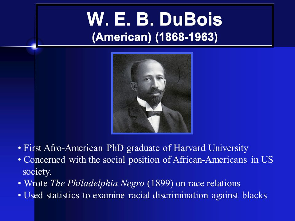 W. E. B. DuBois (American) (1868-1963)
