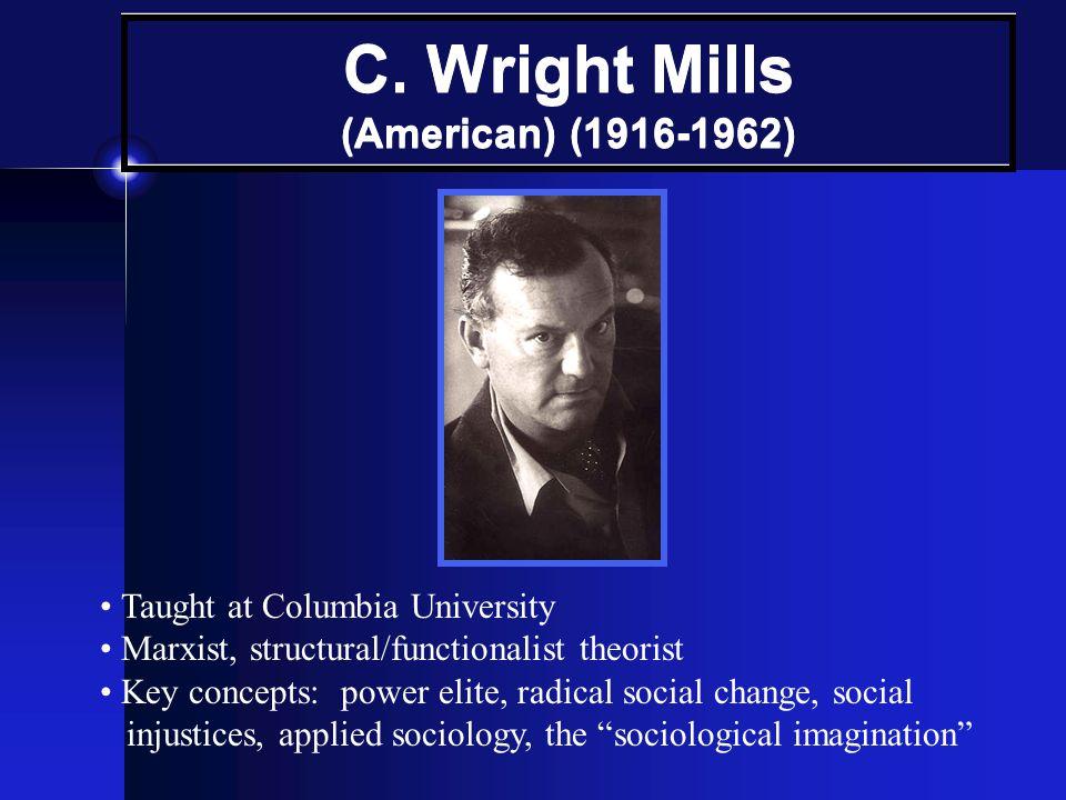 C. Wright Mills (American) (1916-1962)