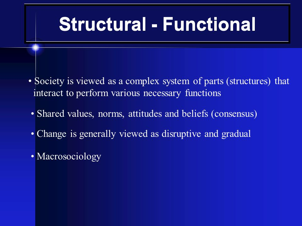 Structural - Functional
