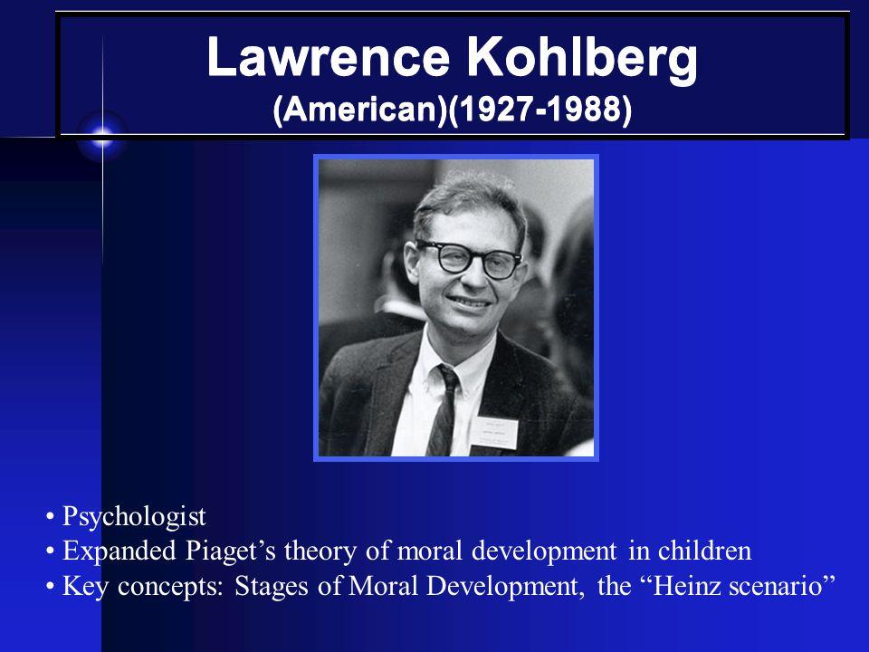 Lawrence Kohlberg (American)(1927-1988)