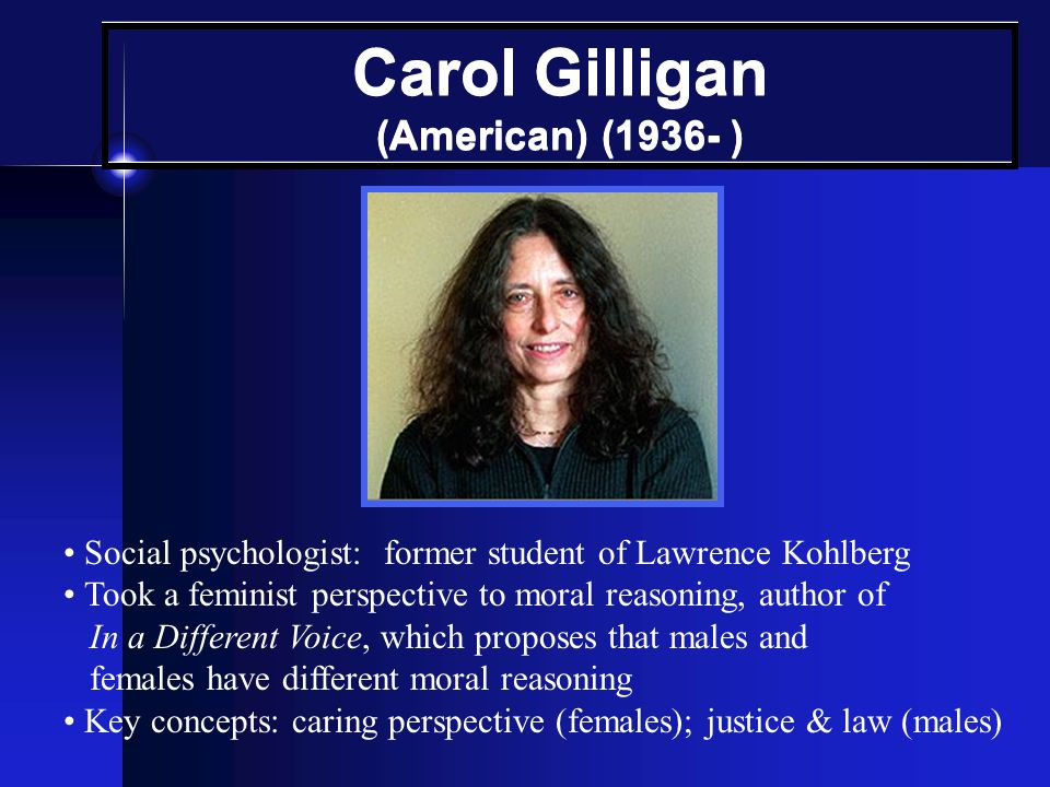 Carol Gilligan (American) (1936- )