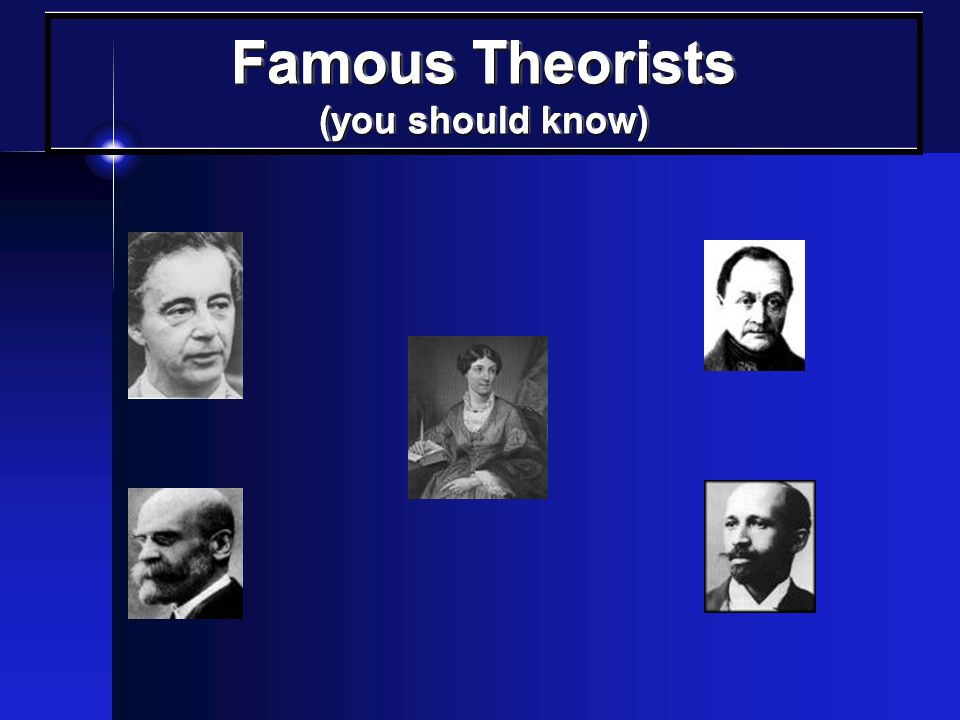 Famous Theorists (you should know)