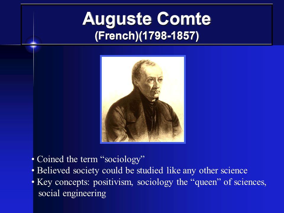 Auguste Comte (French)(1798-1857)