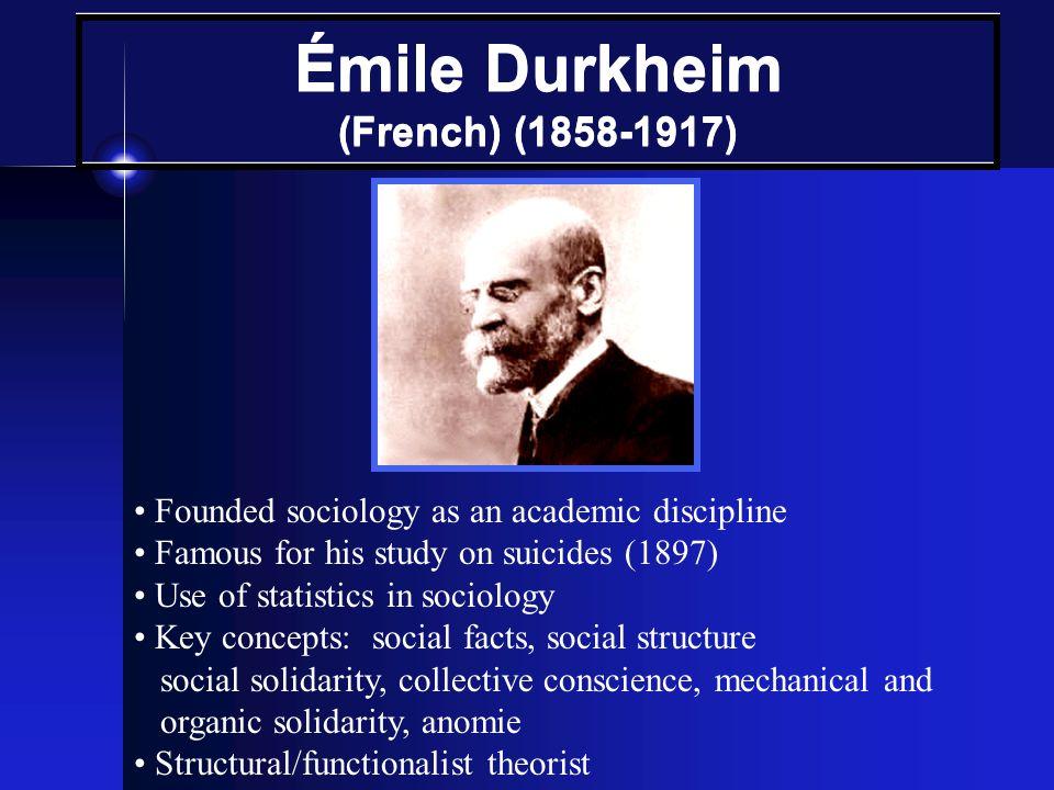 Émile Durkheim (French) (1858-1917)