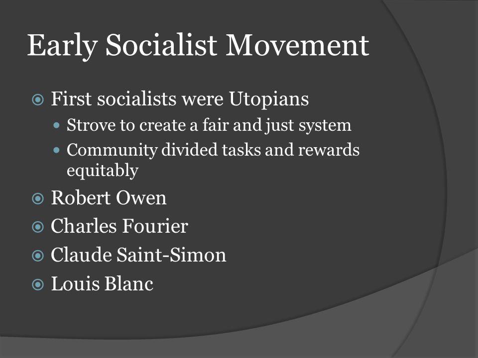 Early Socialist Movement