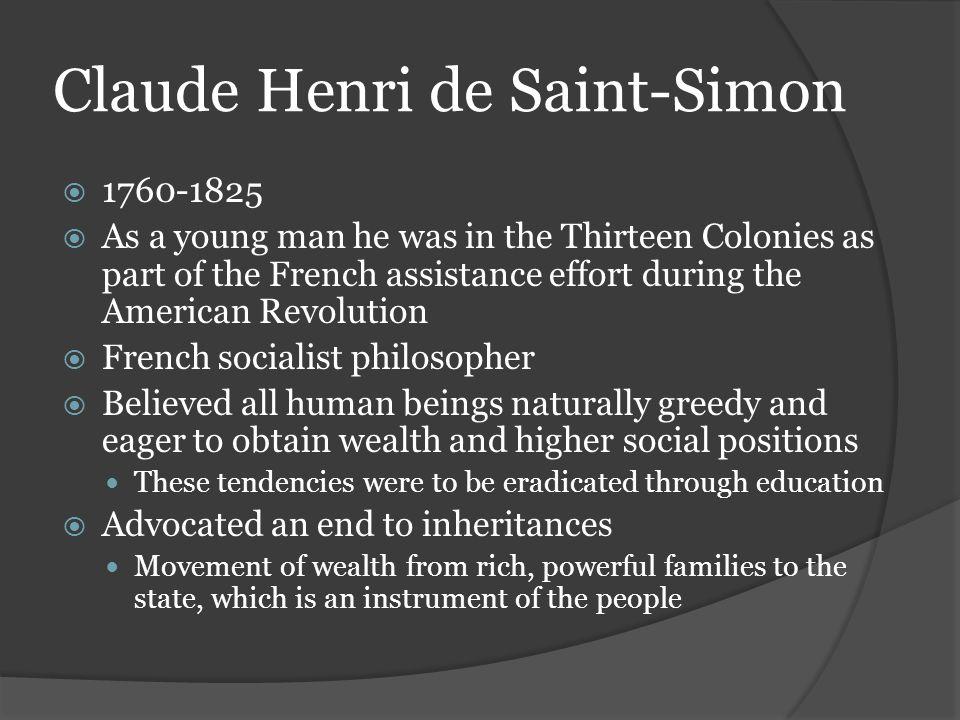 Claude Henri de Saint-Simon