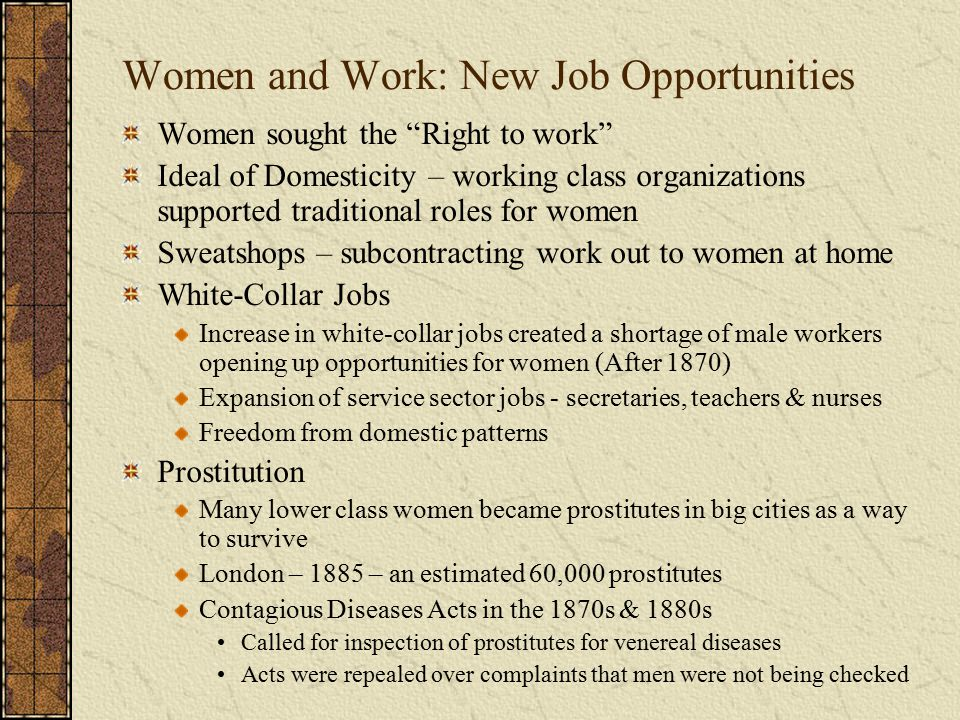 Women and Work: New Job Opportunities