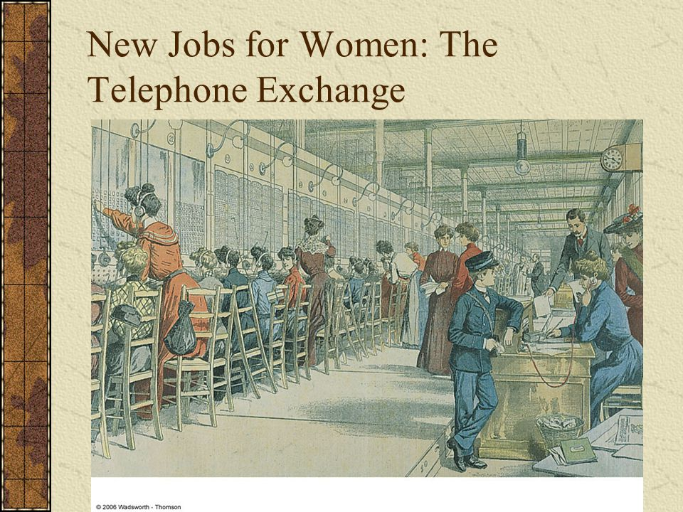 New Jobs for Women: The Telephone Exchange