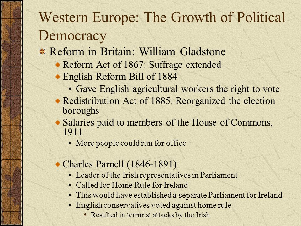 Western Europe: The Growth of Political Democracy