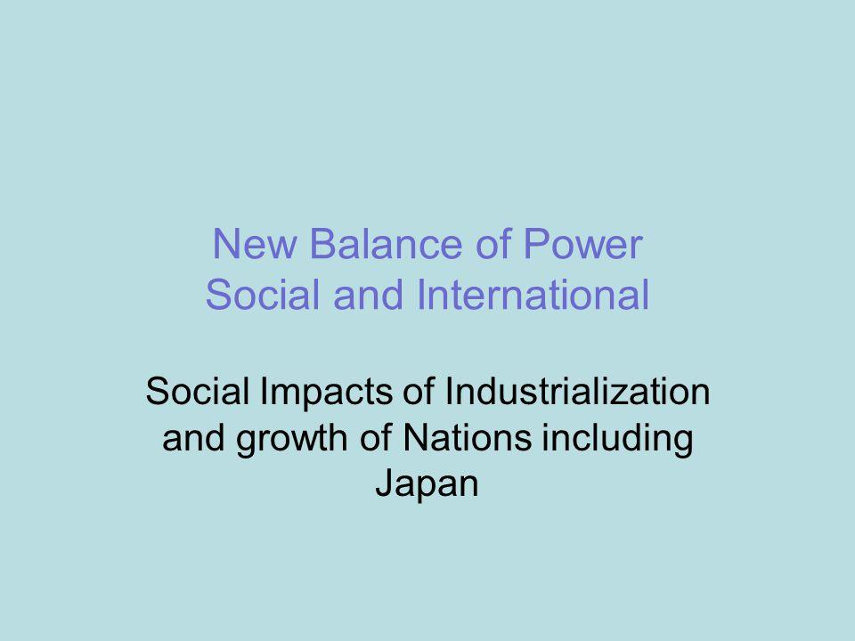 New Balance of Power Social and International