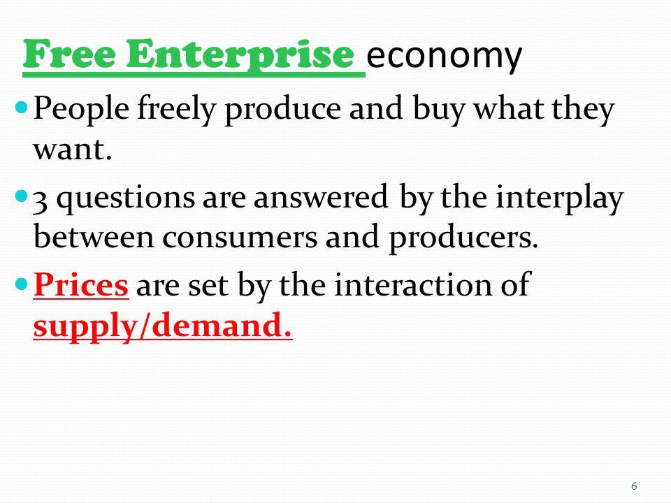 Free Enterprise economy