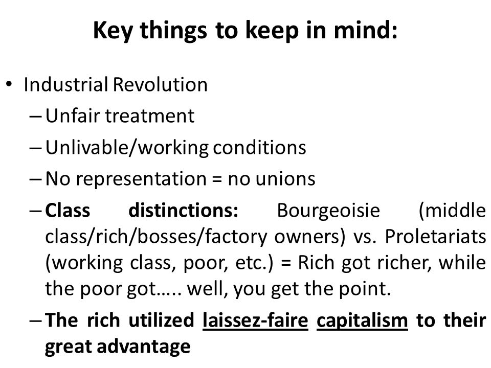 Key things to keep in mind: