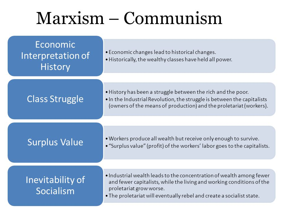 an analysis of the capitalism and communism changes throughout the history of world History of capitalism including the origins of the situation changes if certain virtuous people are predestined to be saved in the next world.