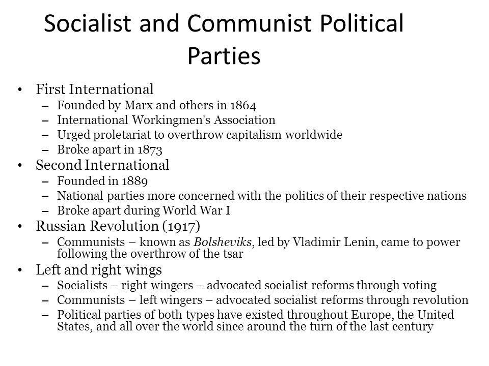 Socialist and Communist Political Parties