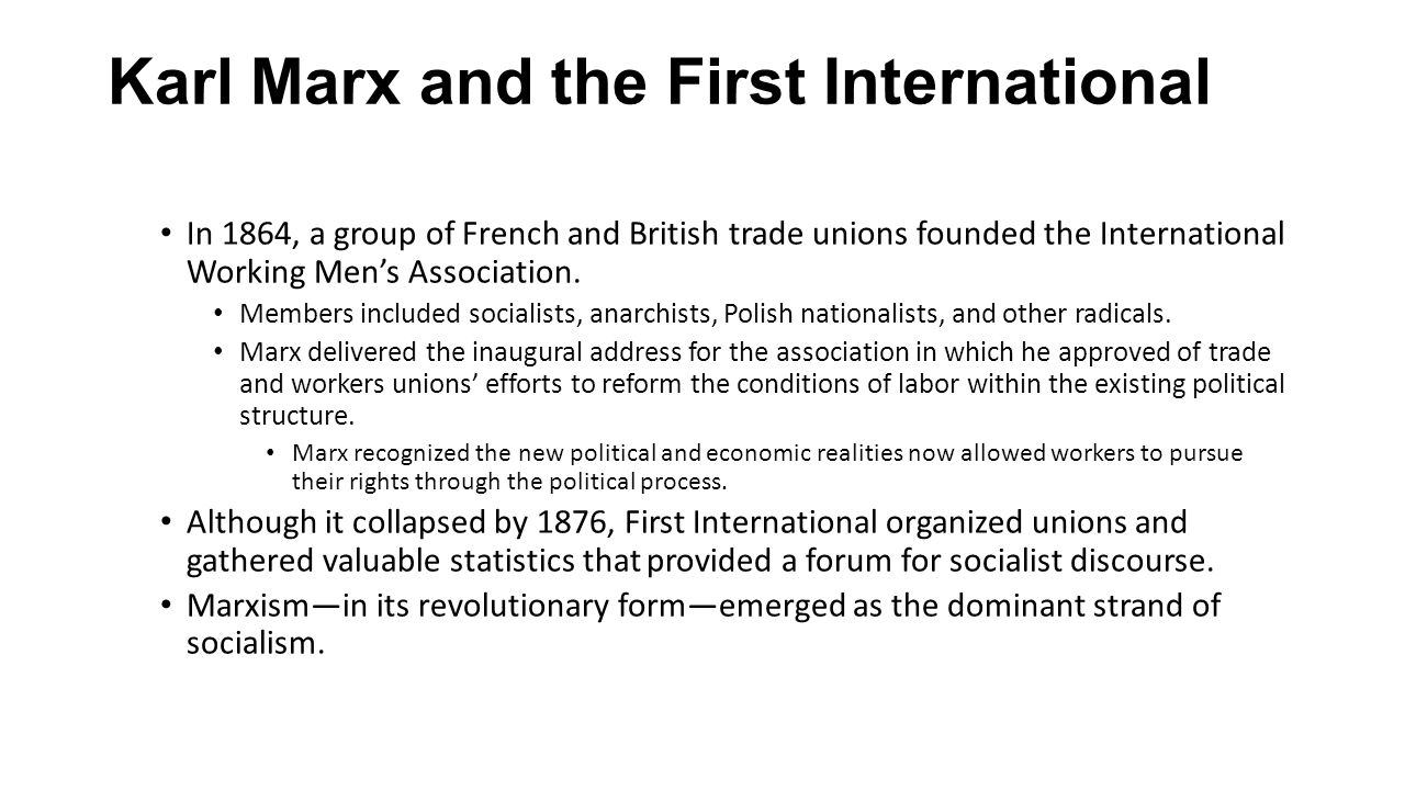Karl Marx and the First International