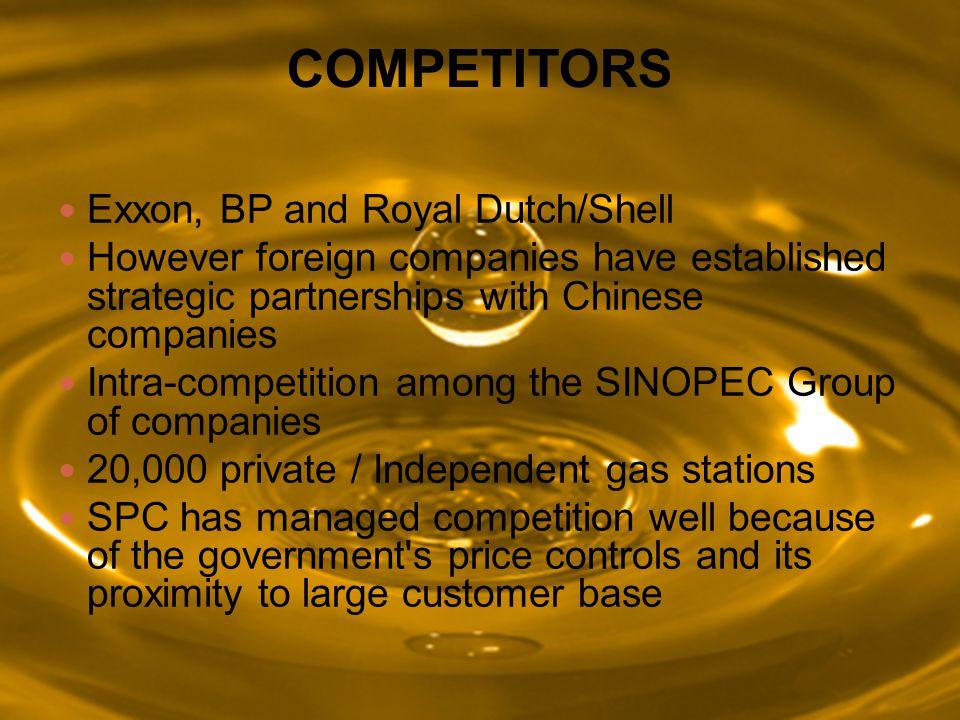 COMPETITORS Exxon, BP and Royal Dutch/Shell