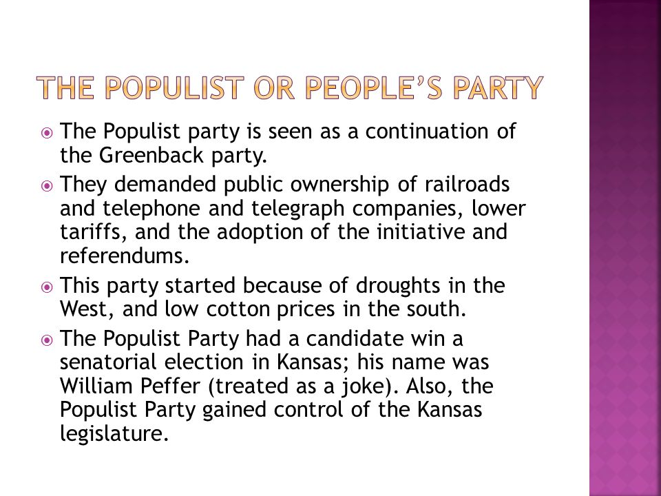 The Populist or People's Party