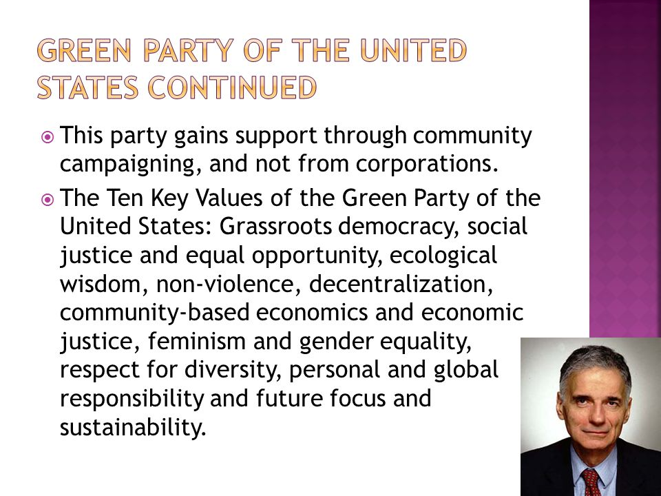 Green Party of the United States Continued