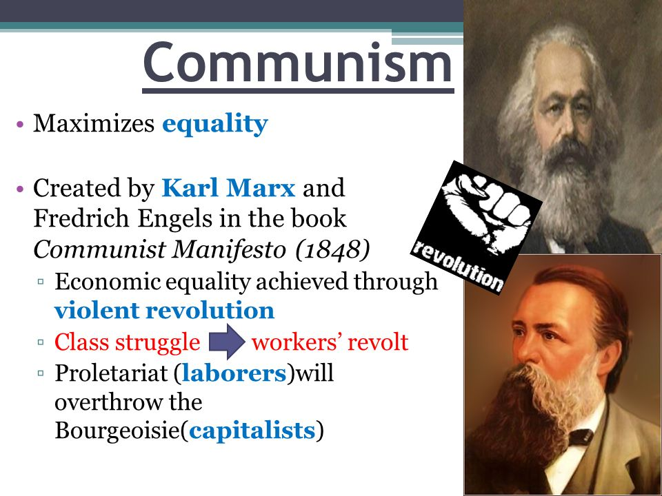 Communism Maximizes equality
