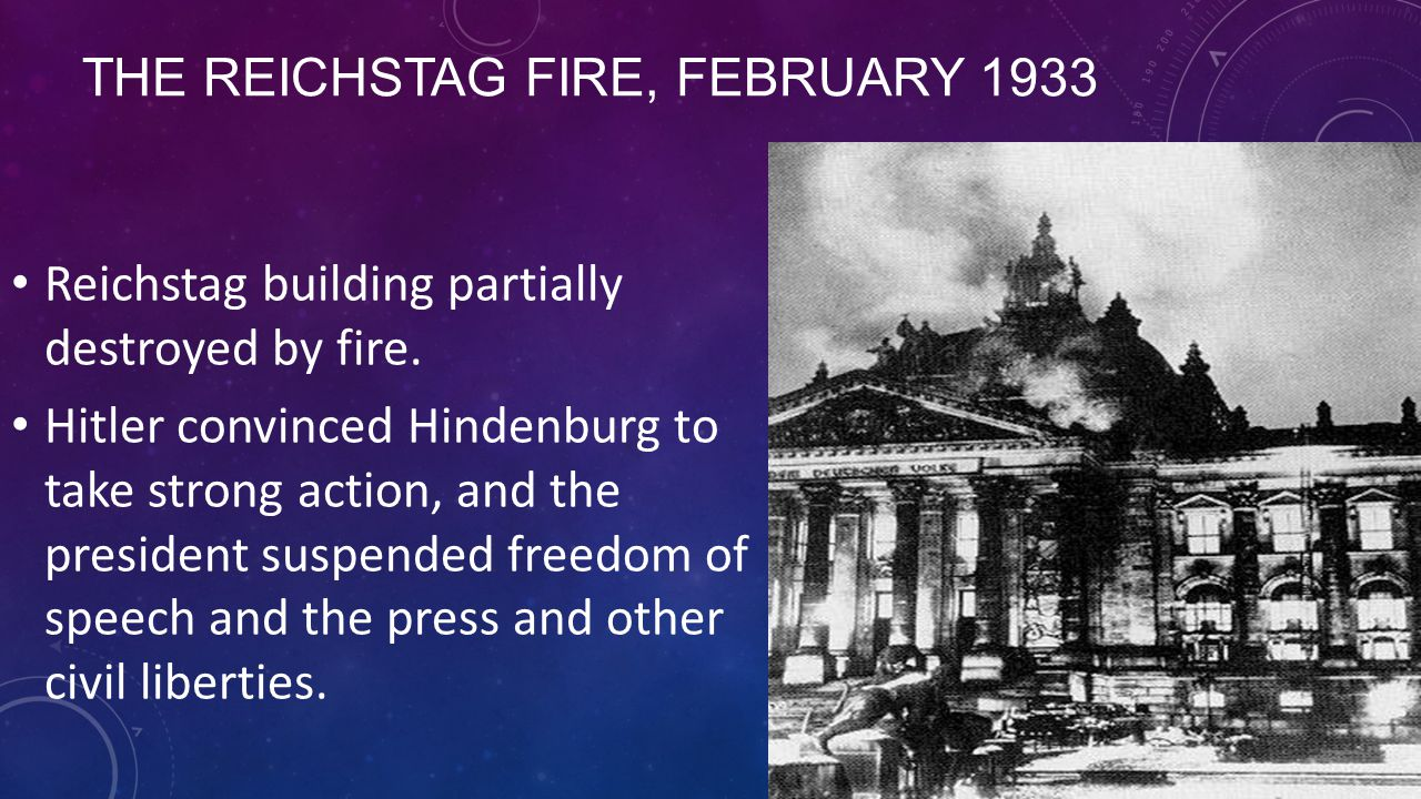 The Reichstag Fire, February 1933