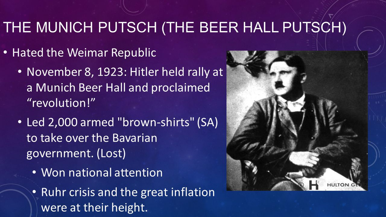 The Munich Putsch (The Beer Hall Putsch)