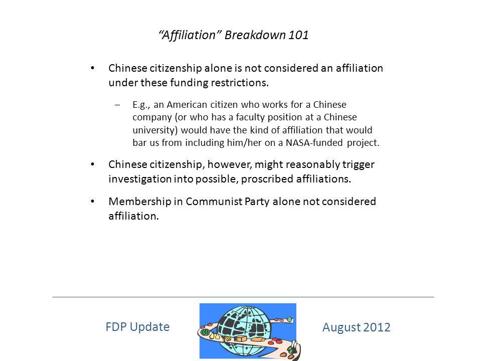 Affiliation Breakdown 101