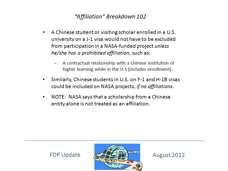 Affiliation Breakdown 102